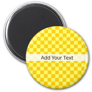 Yellow Combination  Checkerboard by ShirleyTaylor Magnet