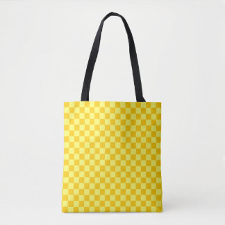 Yellow Combination Classic Checkerboard Tote Bag