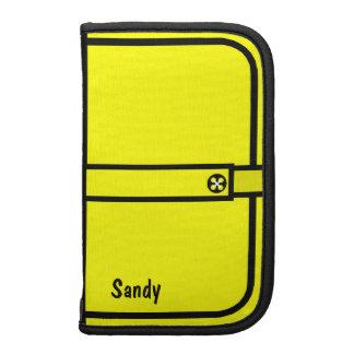 Yellow Comic Book Look Smart Phone Folio Organizers