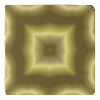 Yellow cool abstract pattern trivet