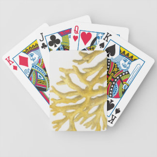 Yellow Coral Bicycle Playing Cards