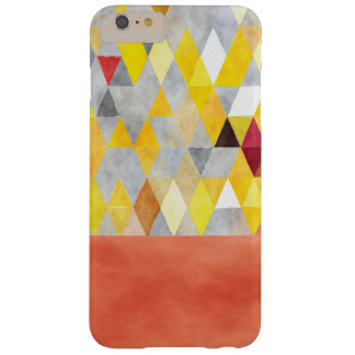 Yellow Coral Grey Boho-Chic Polygon Triangles Barely There iPhone 6 Plus Case