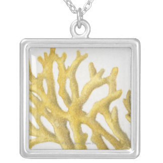 Yellow Coral Silver Plated Necklace