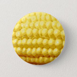 Yellow Corn on the Cob Texture 6 Cm Round Badge