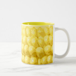 Yellow Corn on the Cob Texture Two-Tone Coffee Mug