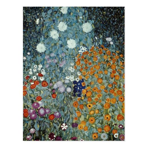 Yellow Country Garden, Claude Monet flowers Post Cards