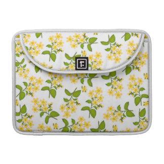 Yellow Country Wildflowers Rickshaw Flap Sleeve MacBook Pro Sleeve