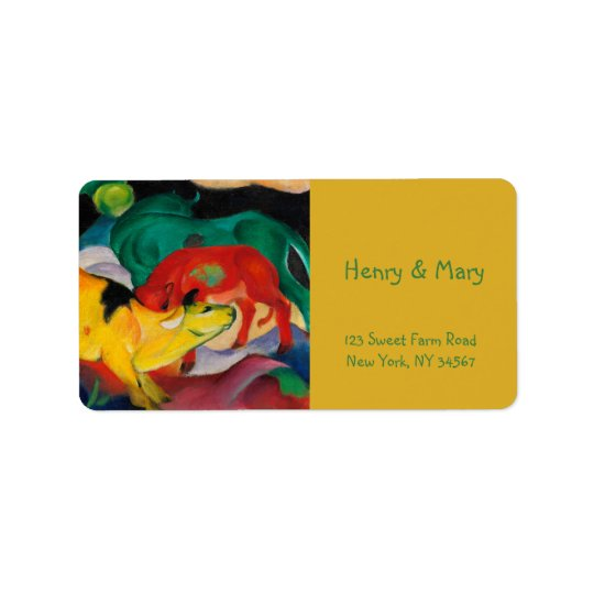 Yellow Cow by Franz Marc Label