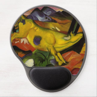 yellow cow gel mouse pad