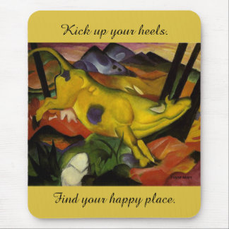 yellow cow mouse pad