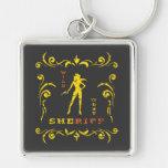 Yellow Cowgirl Keychain