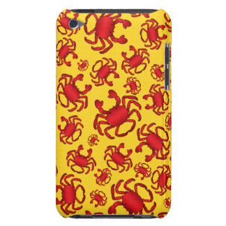 Yellow crab pattern iPod touch covers