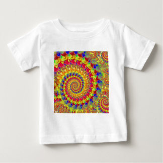 Yellow Crazy Fractal Baby T-Shirt
