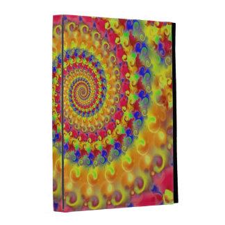 Yellow Crazy Fractal iPad Folio Cover