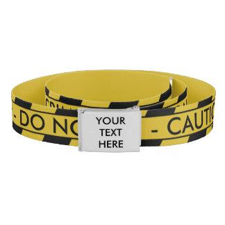 Yellow Crime Scene Tape Belt