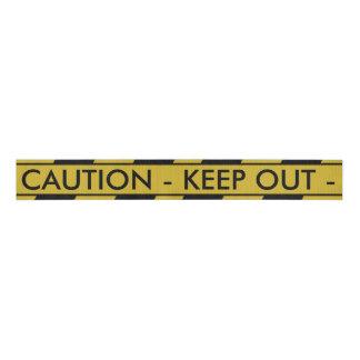Yellow Crime Scene Tape Grosgrain Ribbon