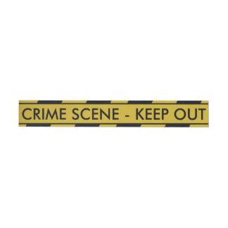 Yellow Crime Scene Tape Wraparound Address Label