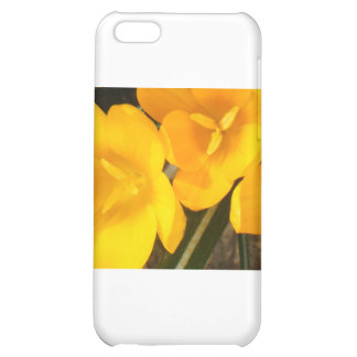 yellow crocus design case for iPhone 5C