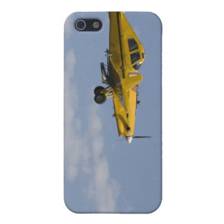 yellow crop duster side iPhone 5/5S cases