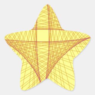 yellow cross star sticker