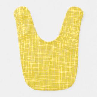 Yellow Crosshatch Baby Bibs