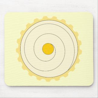 Yellow Cupcake. Iced cake. Mousepads