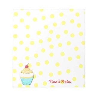 Yellow Cupcake Notepad