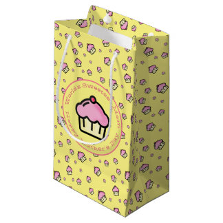 Yellow Cupcake Pattern Happy Mothers Day Gift Bag