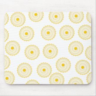 Yellow Cupcake Pattern. Mousepads