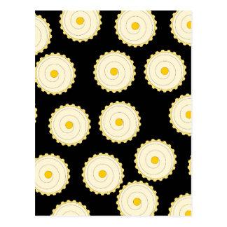 Yellow Cupcake Pattern. Postcard