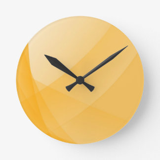 Yellow curves round clock