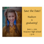 Yellow Custom Photo Graduation Save the Date Card Post Cards