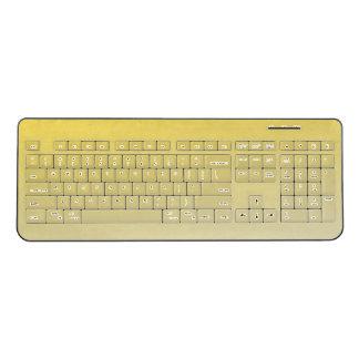 Yellow Custom Wireless Keyboard