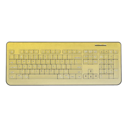 Yellow Custom Wireless Keyboard