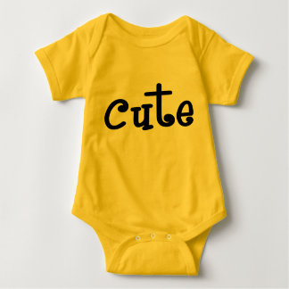 Yellow Cute Baby Romper Baby Bodysuit