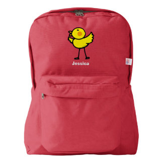 yellow cute chick backpack