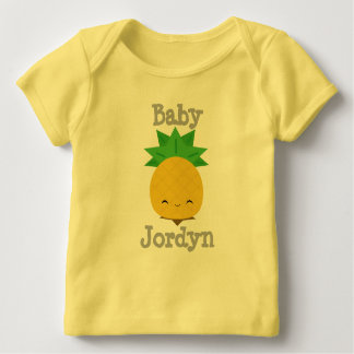 Yellow Cute Pineapple Baby Fine Jersey T-shirt