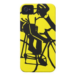 Yellow Cycling iPhone 4 Covers