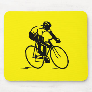 Yellow Cycling Mouse Mat