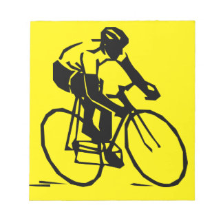 Yellow Cycling Notepad