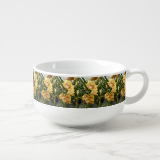 Yellow Cymbidium Orchids Soup Mug