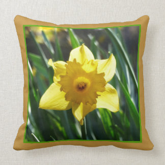 Yellow Daffodil 03.3.g Throw Pillow