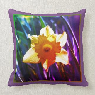 Yellow Daffodil 03.7.2.g.F Throw Pillow