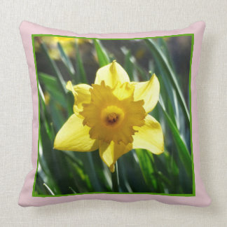 Yellow Daffodil 03.7.2.g Throw Pillow