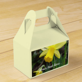 Yellow Daffodil In Soft Focus Party Favor Boxes