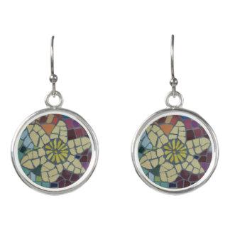 Yellow Daffodil Mosaic Earrings