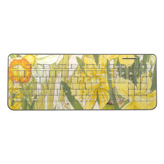 Yellow Daffodills Wireless Keyboard