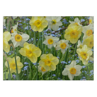 Yellow daffodils floral print cutting board