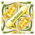 Yellow Daffodils Retro Style Invite