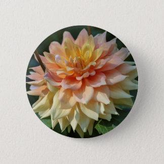 yellow dahlia 6 cm round badge